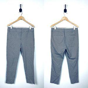 LOFT 10 Houndstouth Straight Leg Pant Career